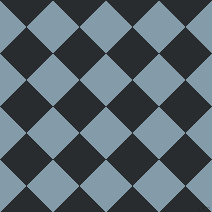 45/135 degree angle diagonal checkered chequered squares checker pattern checkers background, 124 pixel square size, , Bali Hai and Bunker checkers chequered checkered squares seamless tileable