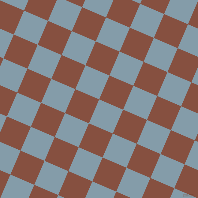 67/157 degree angle diagonal checkered chequered squares checker pattern checkers background, 85 pixel square size, , Bali Hai and Ironstone checkers chequered checkered squares seamless tileable