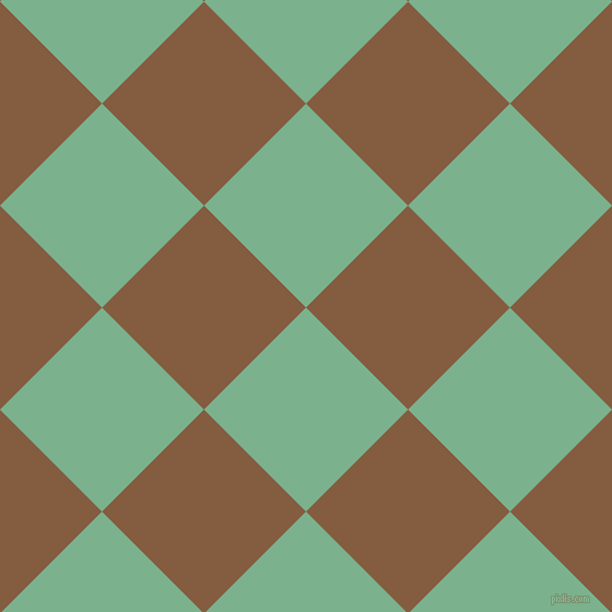 45/135 degree angle diagonal checkered chequered squares checker pattern checkers background, 132 pixel squares size, , Bay Leaf and Potters Clay checkers chequered checkered squares seamless tileable