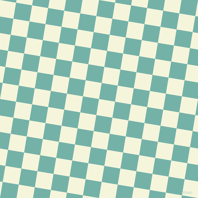 81/171 degree angle diagonal checkered chequered squares checker pattern checkers background, 54 pixel squares size, , Beige and Gulf Stream checkers chequered checkered squares seamless tileable
