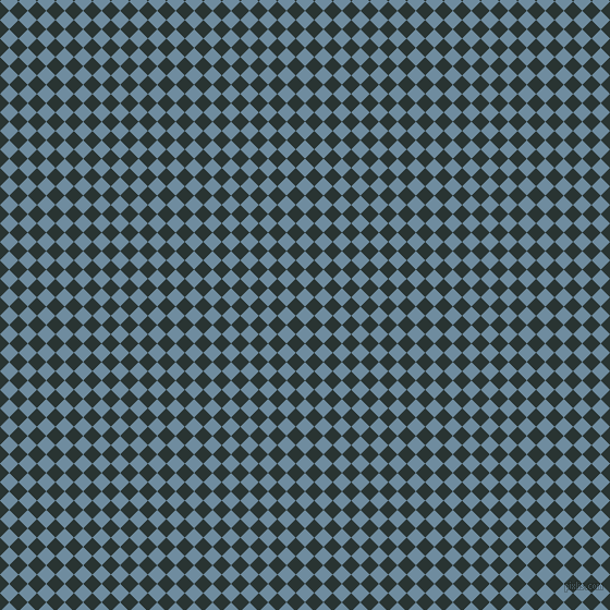 45/135 degree angle diagonal checkered chequered squares checker pattern checkers background, 12 pixel square size, Bermuda Grey and Aztec checkers chequered checkered squares seamless tileable