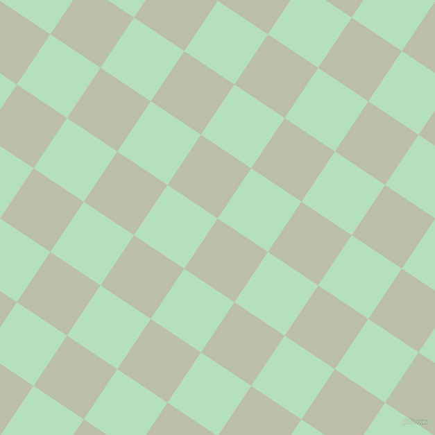 56/146 degree angle diagonal checkered chequered squares checker pattern checkers background, 87 pixel square size, Beryl Green and Fringy Flower checkers chequered checkered squares seamless tileable