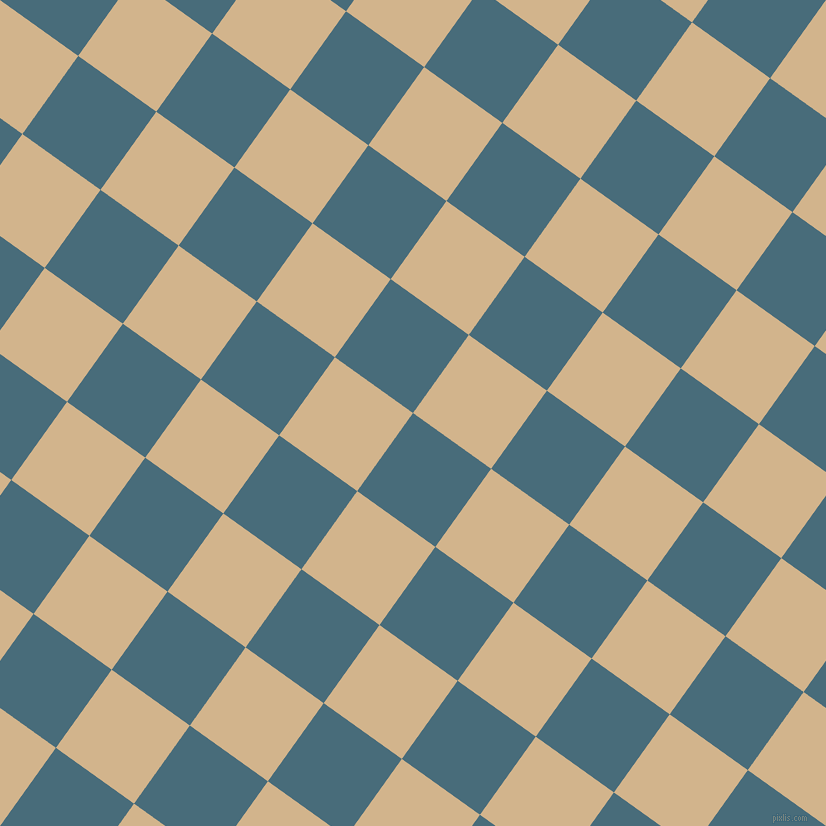 54/144 degree angle diagonal checkered chequered squares checker pattern checkers background, 96 pixel square size, , Bismark and Tan checkers chequered checkered squares seamless tileable