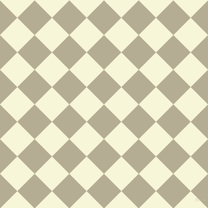 45/135 degree angle diagonal checkered chequered squares checker pattern checkers background, 81 pixel square size, , Bison Hide and White Nectar checkers chequered checkered squares seamless tileable