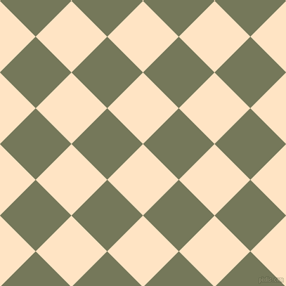 45/135 degree angle diagonal checkered chequered squares checker pattern checkers background, 72 pixel square size, , Bisque and Finch checkers chequered checkered squares seamless tileable