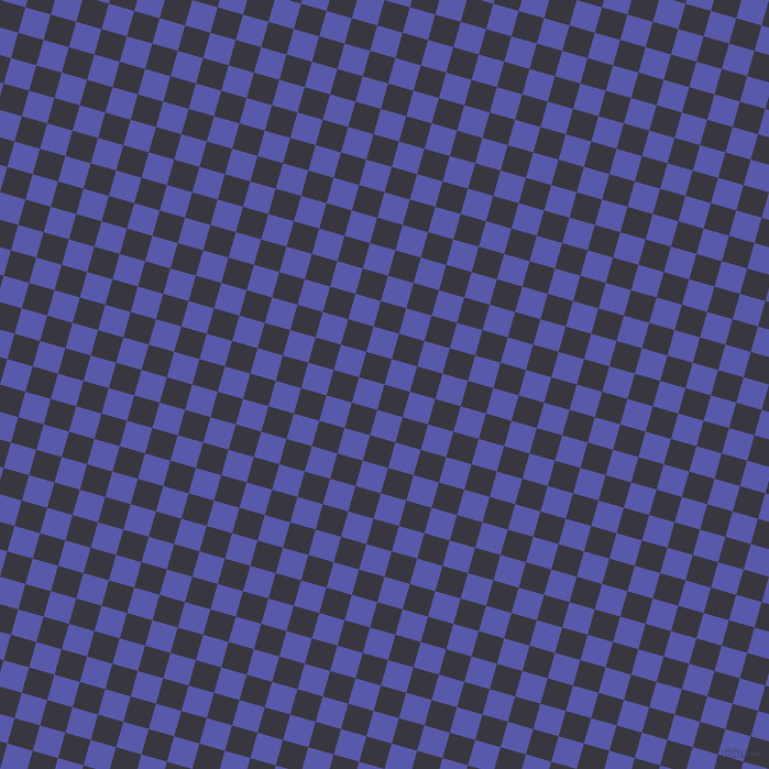 74/164 degree angle diagonal checkered chequered squares checker pattern checkers background, 24 pixel square size, , Black Marlin and Rich Blue checkers chequered checkered squares seamless tileable