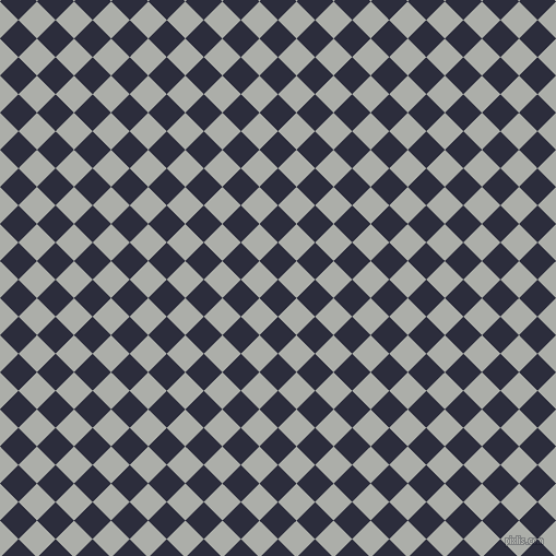 45/135 degree angle diagonal checkered chequered squares checker pattern checkers background, 24 pixel square size, , Black Rock and Silver Chalice checkers chequered checkered squares seamless tileable