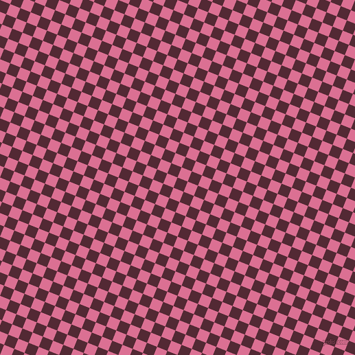 68/158 degree angle diagonal checkered chequered squares checker pattern checkers background, 16 pixel square size, , Black Rose and Pale Violet Red checkers chequered checkered squares seamless tileable