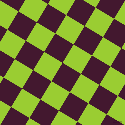 59/149 degree angle diagonal checkered chequered squares checker pattern checkers background, 88 pixel squares size, , Blackberry and Yellow Green checkers chequered checkered squares seamless tileable