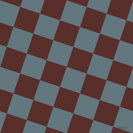 72/162 degree angle diagonal checkered chequered squares checker pattern checkers background, 74 pixel squares size, , Blue Bayoux and Moccaccino checkers chequered checkered squares seamless tileable