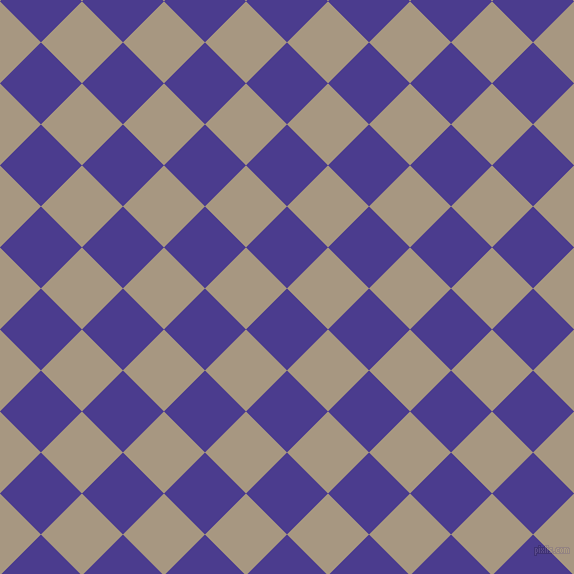 45/135 degree angle diagonal checkered chequered squares checker pattern checkers background, 58 pixel squares size, , Blue Gem and Bronco checkers chequered checkered squares seamless tileable