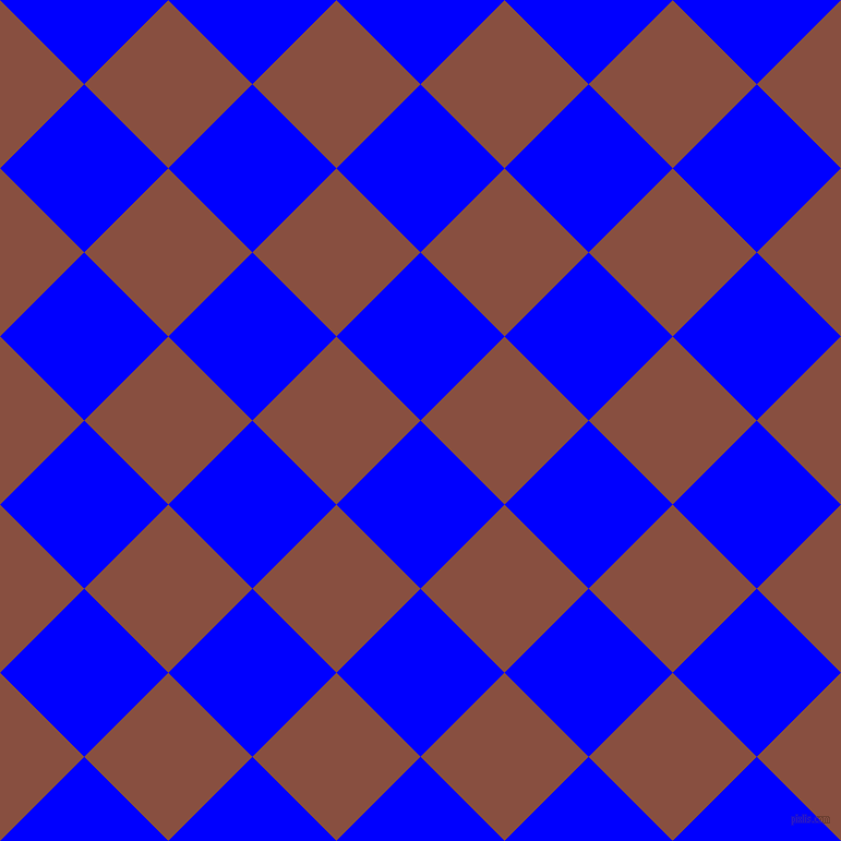 45/135 degree angle diagonal checkered chequered squares checker pattern checkers background, 109 pixel square size, , Blue and Mule Fawn checkers chequered checkered squares seamless tileable