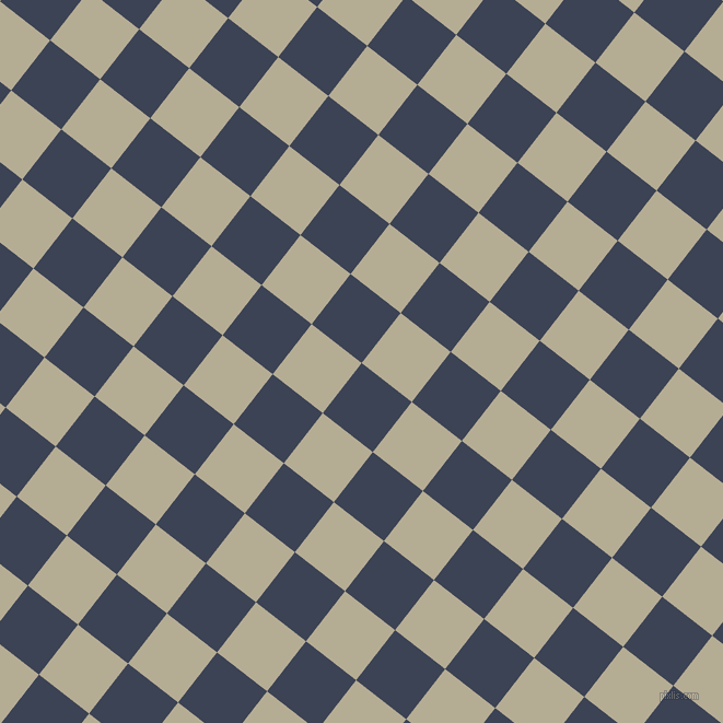 52/142 degree angle diagonal checkered chequered squares checker pattern checkers background, 58 pixel square size, , Blue Zodiac and Bison Hide checkers chequered checkered squares seamless tileable