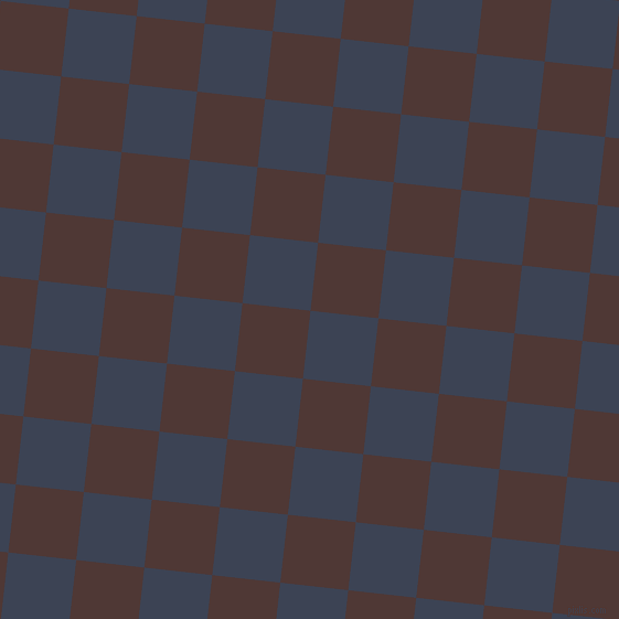84/174 degree angle diagonal checkered chequered squares checker pattern checkers background, 62 pixel square size, , Blue Zodiac and Cocoa Bean checkers chequered checkered squares seamless tileable