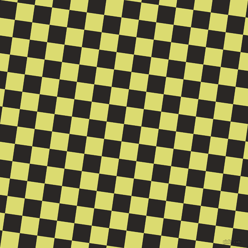82/172 degree angle diagonal checkered chequered squares checker pattern checkers background, 35 pixel square size, , Bokara Grey and Goldenrod checkers chequered checkered squares seamless tileable
