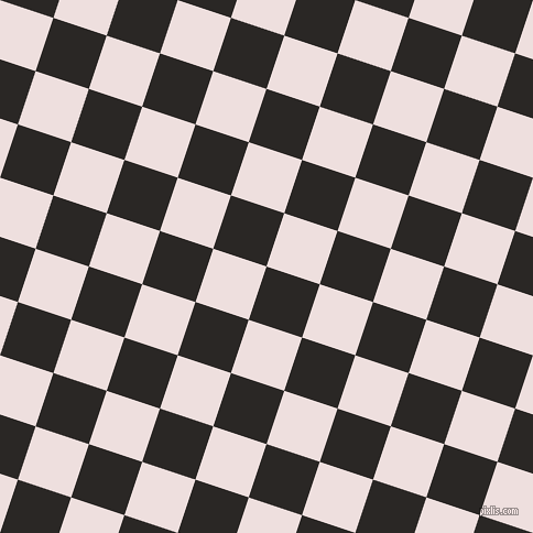 72/162 degree angle diagonal checkered chequered squares checker pattern checkers background, 51 pixel squares size, , Bokara Grey and Soft Peach checkers chequered checkered squares seamless tileable