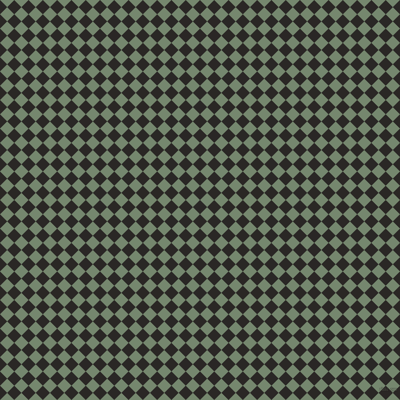 45/135 degree angle diagonal checkered chequered squares checker pattern checkers background, 20 pixel square size, Bokara Grey and Xanadu checkers chequered checkered squares seamless tileable