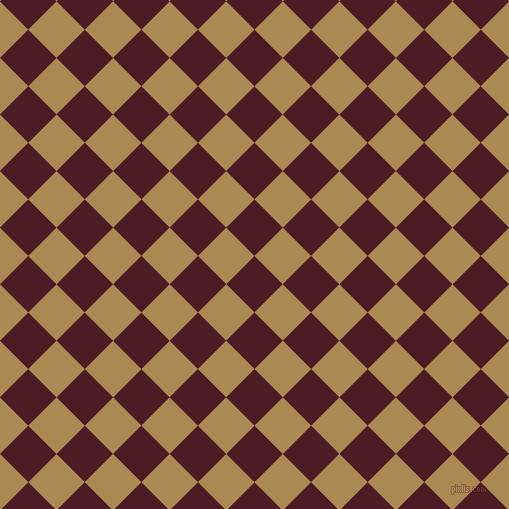 45/135 degree angle diagonal checkered chequered squares checker pattern checkers background, 40 pixel square size, , Bordeaux and Teak checkers chequered checkered squares seamless tileable