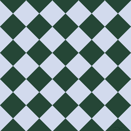45/135 degree angle diagonal checkered chequered squares checker pattern checkers background, 62 pixel squares size, , Bottle Green and Hawkes Blue checkers chequered checkered squares seamless tileable