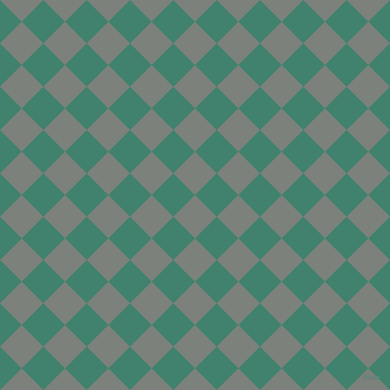 45/135 degree angle diagonal checkered chequered squares checker pattern checkers background, 63 pixel square size, , Boulder and Viridian checkers chequered checkered squares seamless tileable