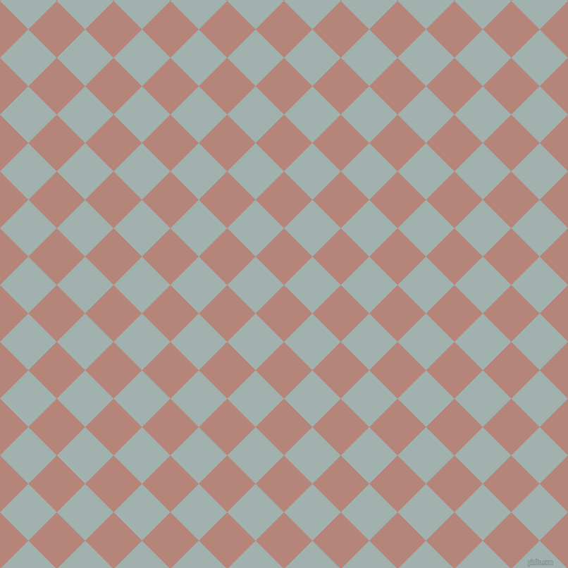45/135 degree angle diagonal checkered chequered squares checker pattern checkers background, 57 pixel squares size, Brandy Rose and Conch checkers chequered checkered squares seamless tileable