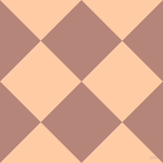 45/135 degree angle diagonal checkered chequered squares checker pattern checkers background, 201 pixel squares size, , Brandy Rose and Peach checkers chequered checkered squares seamless tileable