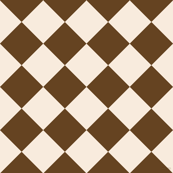 45/135 degree angle diagonal checkered chequered squares checker pattern checkers background, 119 pixel square size, , Bridal Heath and Dark Brown checkers chequered checkered squares seamless tileable