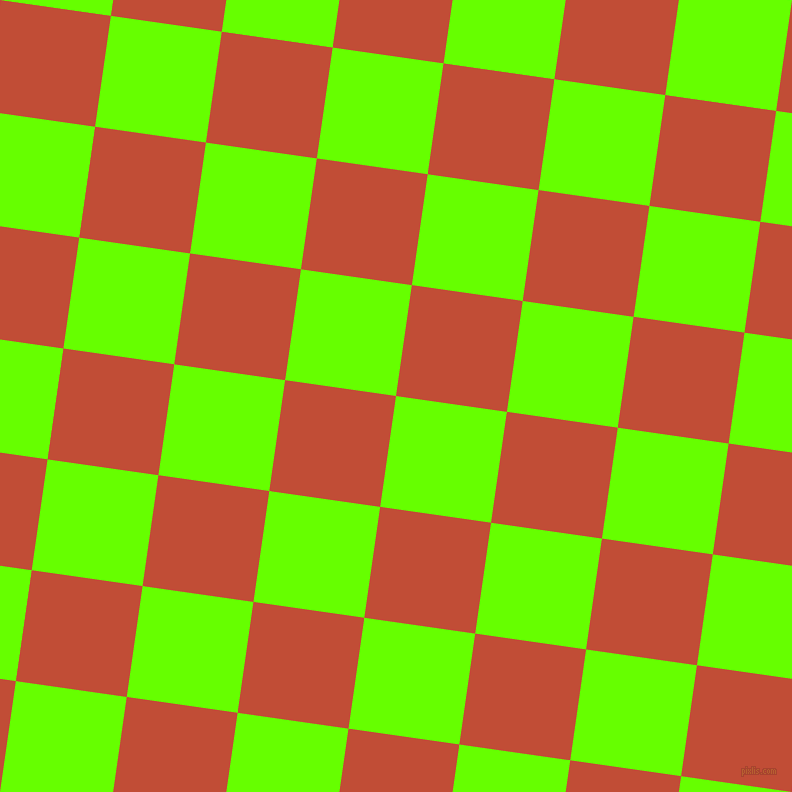 82/172 degree angle diagonal checkered chequered squares checker pattern checkers background, 112 pixel squares size, , Bright Green and Grenadier checkers chequered checkered squares seamless tileable