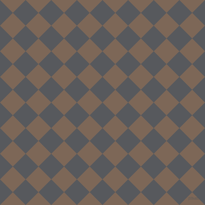 45/135 degree angle diagonal checkered chequered squares checker pattern checkers background, 60 pixel square size, , Bright Grey and Roman Coffee checkers chequered checkered squares seamless tileable