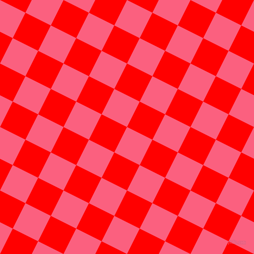 63/153 degree angle diagonal checkered chequered squares checker pattern checkers background, 56 pixel square size, , Brink Pink and Red checkers chequered checkered squares seamless tileable