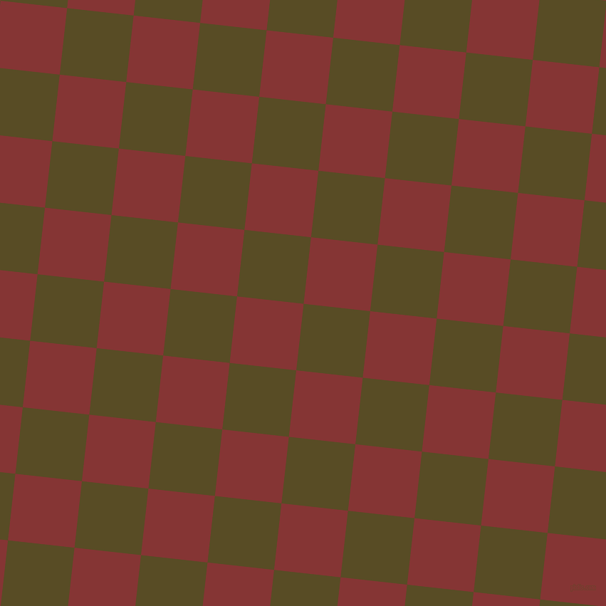 84/174 degree angle diagonal checkered chequered squares checker pattern checkers background, 94 pixel squares size, , Bronze Olive and Tall Poppy checkers chequered checkered squares seamless tileable
