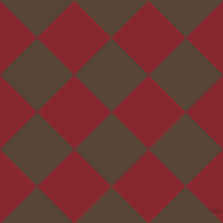 45/135 degree angle diagonal checkered chequered squares checker pattern checkers background, 108 pixel squares size, , Brown Derby and Flame Red checkers chequered checkered squares seamless tileable
