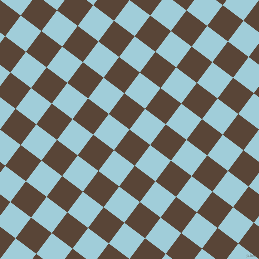 53/143 degree angle diagonal checkered chequered squares checker pattern checkers background, 83 pixel squares size, , Brown Derby and Regent St Blue checkers chequered checkered squares seamless tileable