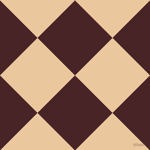 45/135 degree angle diagonal checkered chequered squares checker pattern checkers background, 185 pixel square size, Bulgarian Rose and New Tan checkers chequered checkered squares seamless tileable