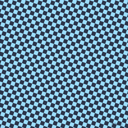72/162 degree angle diagonal checkered chequered squares checker pattern checkers background, 13 pixel square size, , Bunting and Columbia Blue checkers chequered checkered squares seamless tileable