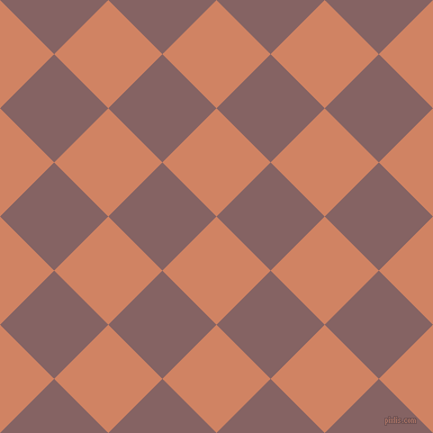 45/135 degree angle diagonal checkered chequered squares checker pattern checkers background, 85 pixel squares size, , Burning Sand and Light Wood checkers chequered checkered squares seamless tileable