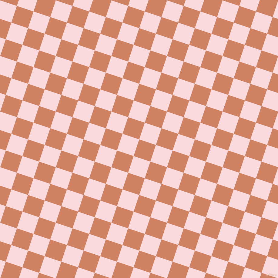 72/162 degree angle diagonal checkered chequered squares checker pattern checkers background, 58 pixel squares size, , Burning Sand and Pale Pink checkers chequered checkered squares seamless tileable