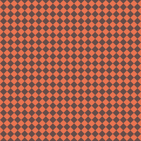 45/135 degree angle diagonal checkered chequered squares checker pattern checkers background, 17 pixel squares size, , Burnt Sienna and Congo Brown checkers chequered checkered squares seamless tileable