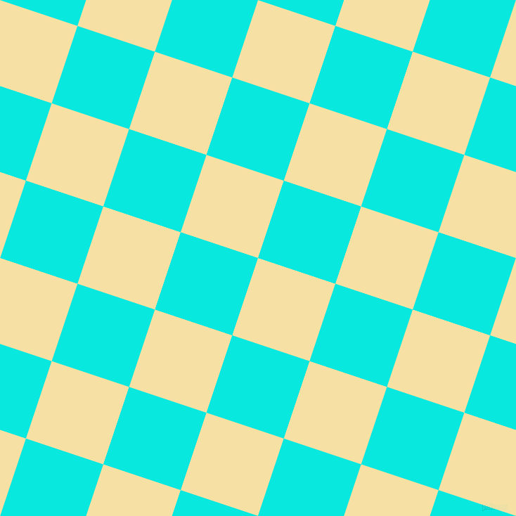 72/162 degree angle diagonal checkered chequered squares checker pattern checkers background, 116 pixel squares size, , Buttermilk and Bright Turquoise checkers chequered checkered squares seamless tileable