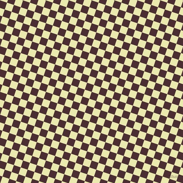 72/162 degree angle diagonal checkered chequered squares checker pattern checkers background, 24 pixel squares size, , Cab Sav and Medium Goldenrod checkers chequered checkered squares seamless tileable