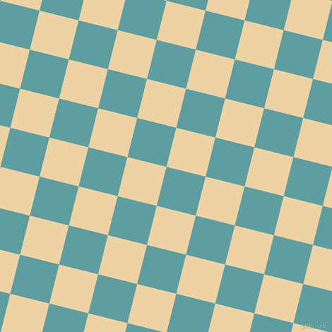 76/166 degree angle diagonal checkered chequered squares checker pattern checkers background, 57 pixel square size, , Cadet Blue and Dairy Cream checkers chequered checkered squares seamless tileable