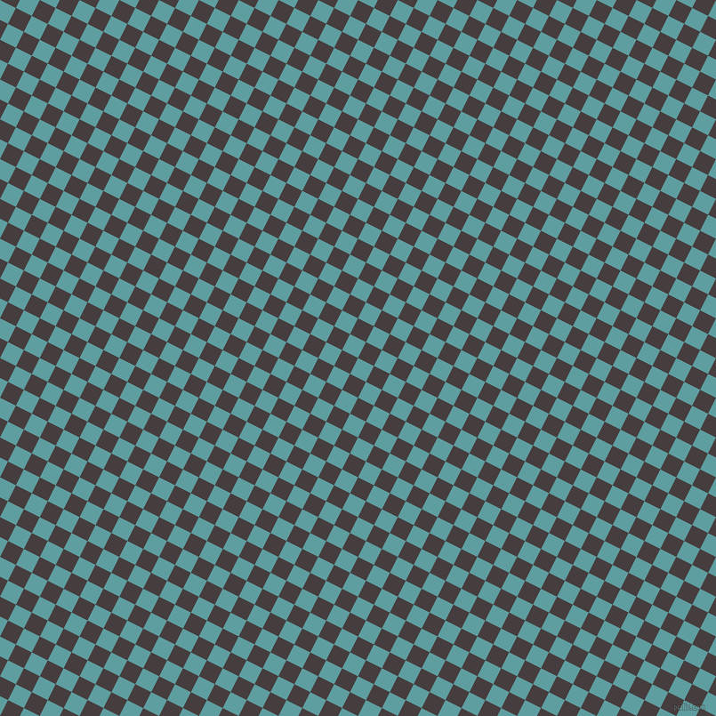 63/153 degree angle diagonal checkered chequered squares checker pattern checkers background, 20 pixel square size, , Cadet Blue and Jon checkers chequered checkered squares seamless tileable