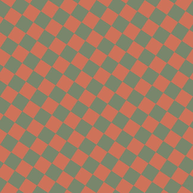 56/146 degree angle diagonal checkered chequered squares checker pattern checkers background, 45 pixel square size, , Camouflage Green and Japonica checkers chequered checkered squares seamless tileable