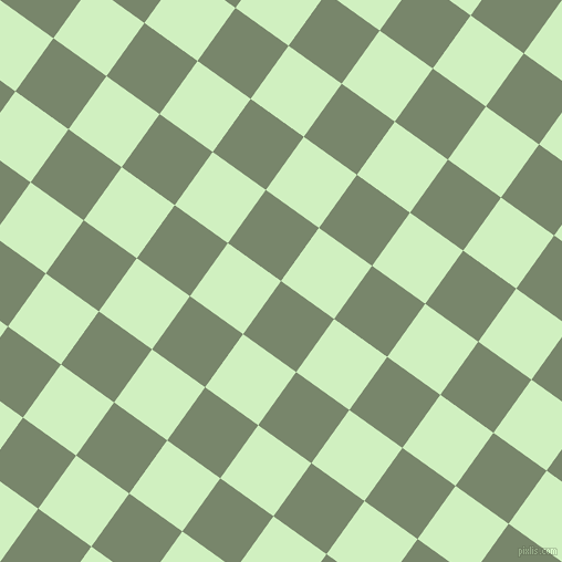 54/144 degree angle diagonal checkered chequered squares checker pattern checkers background, 59 pixel square size, , Camouflage Green and Tea Green checkers chequered checkered squares seamless tileable