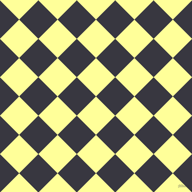 45/135 degree angle diagonal checkered chequered squares checker pattern checkers background, 90 pixel square size, , Canary and Black Marlin checkers chequered checkered squares seamless tileable