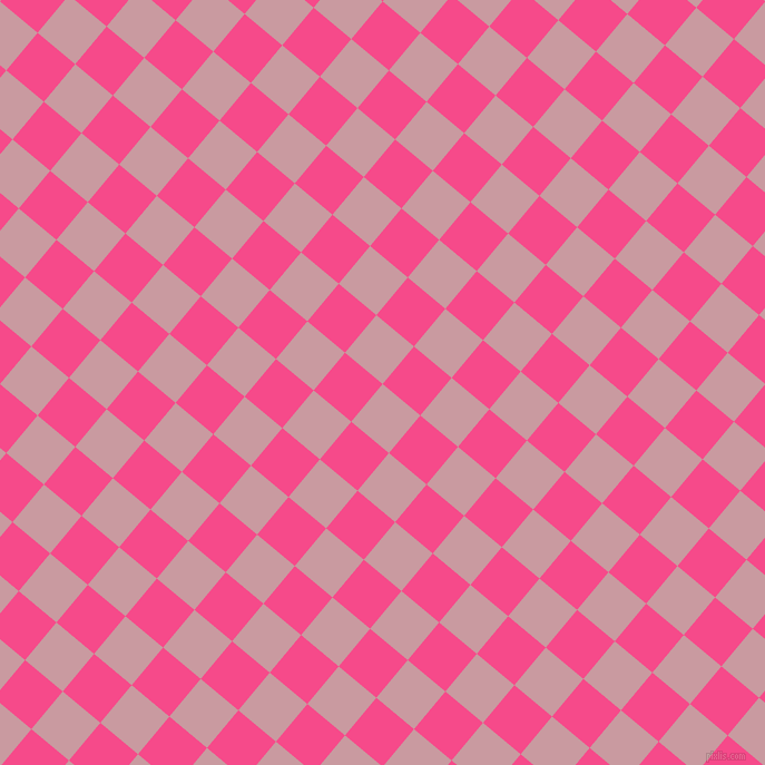 50/140 degree angle diagonal checkered chequered squares checker pattern checkers background, 44 pixel square size, , Careys Pink and French Rose checkers chequered checkered squares seamless tileable