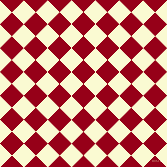 Carmine And Light Goldenrod Yellow Checkers Chequered