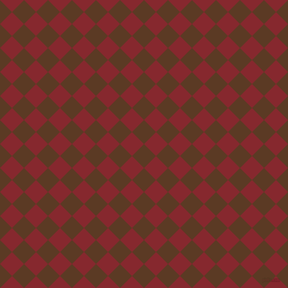 45/135 degree angle diagonal checkered chequered squares checker pattern checkers background, 34 pixel square size, , Carnaby Tan and Flame Red checkers chequered checkered squares seamless tileable