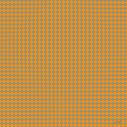45/135 degree angle diagonal checkered chequered squares checker pattern checkers background, 12 pixel square size, , Carrot Orange and Gurkha checkers chequered checkered squares seamless tileable