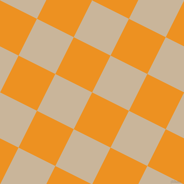 63/153 degree angle diagonal checkered chequered squares checker pattern checkers background, 142 pixel square size, , Carrot Orange and Sour Dough checkers chequered checkered squares seamless tileable